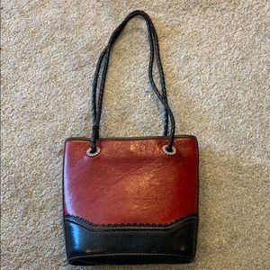 Brighton Red Leather Vintage Bag - Well Loved